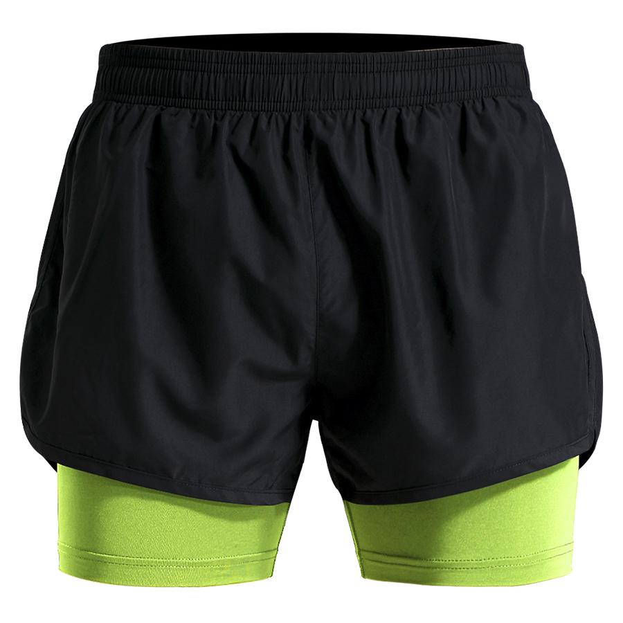 Compre 2 Em 1 Dos Homens Calções De Treino De Poliéster Respirável Shorts  De Corrida Maratona Esporte Solto Calças Curtas M 4xl Plus Size Ginásio  Curto De ... af58653291e9a