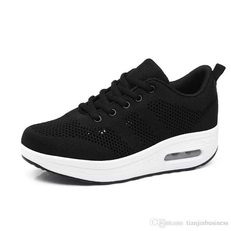21730cc87f2d Toning Shoes Women Slimming Sneakers New Height Increasing Sport Walking  Fitness Wedges Canvas Shoes Online with  40.72 Piece on Tianjinbusiness s  Store ...
