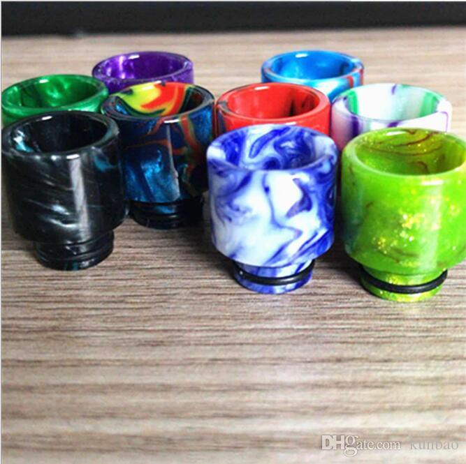 Newest Epoxy Resin Drip Tip Colorful Resin Wide Bore drip tips for Smok TFV8 TFV12 Atomizers Tank Kennedy 24 RDA RBA Mods