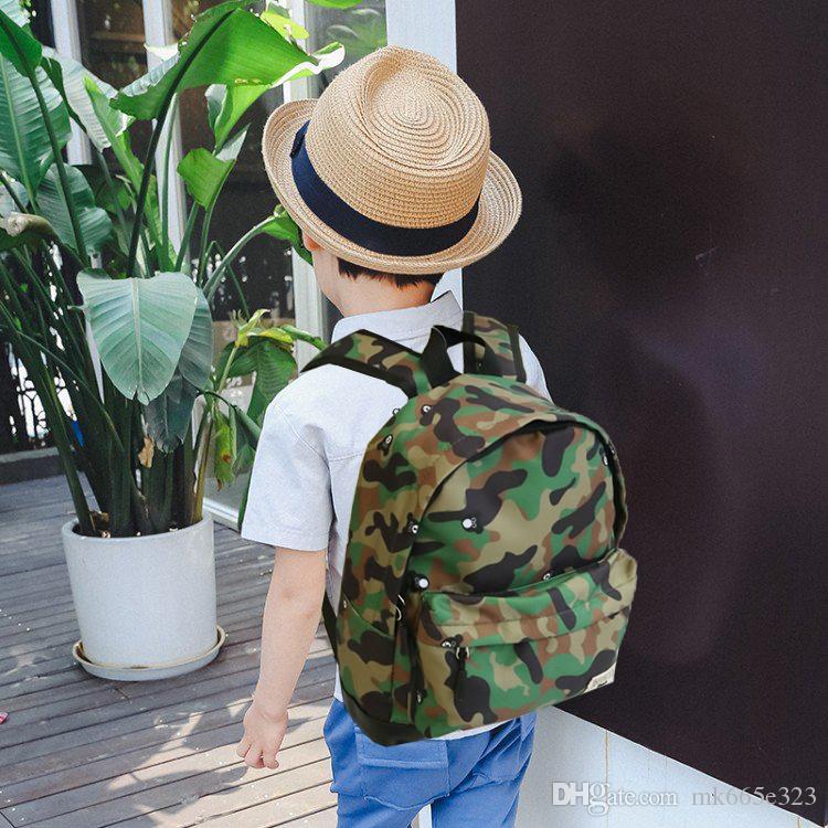 Toddler Mini School Bag Cute Bear Camouflage Cartoon Kids Casual Waterproof  Nylon Children Backpack For Baby Girl Boy 2 5Y Kids Backpacks Cheap Rolling  ... fbbc2763c6179