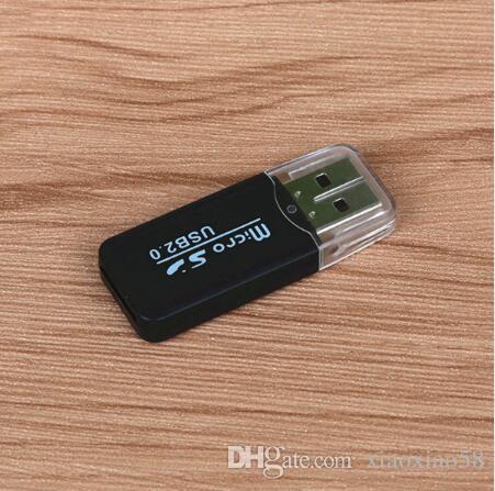 LOTE Adaptador USB 2.0 Portátil Micro SD SDHC Leitor De Cartão De Memória Escritor Flash Drive