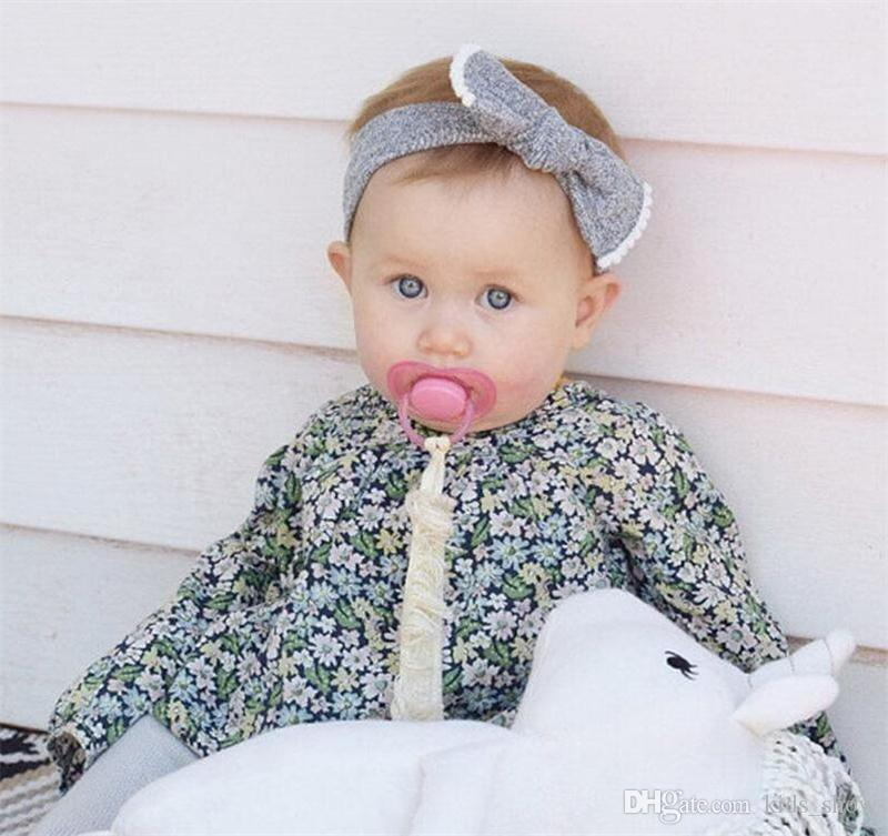Baby Girl Big Bow Tie Hair Bands Contrast Colors Toddle Elastic Headwrap Headdress Infant Headband Kids Hair Accessory