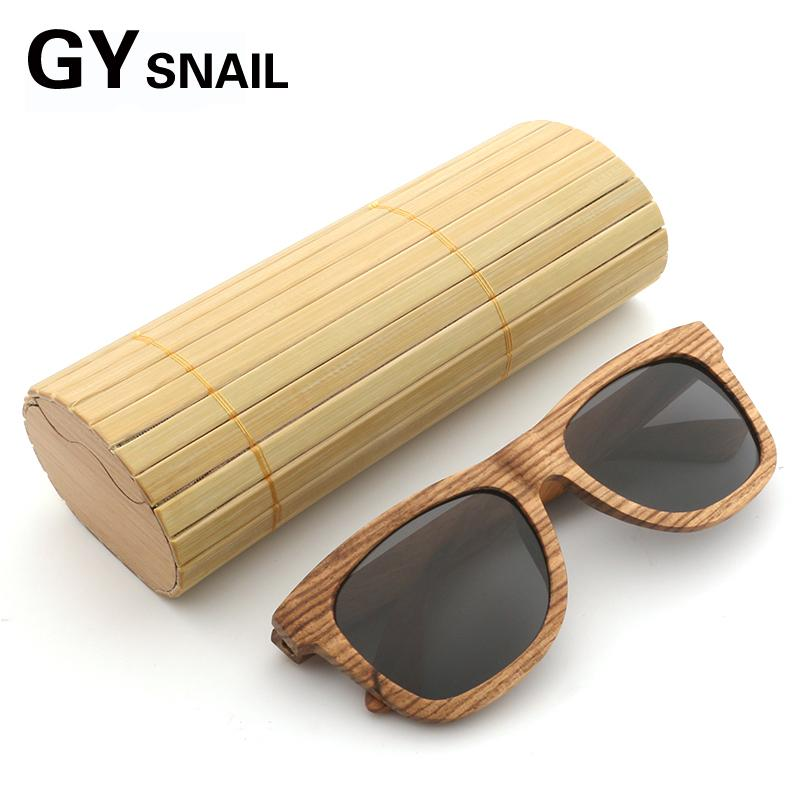 437b21fe6c GY Bamboo Wood Sunglasses Men Brand Designer Handmade Mirror Coating Male  Wooden Polarized Sun Glasses Women Femalein Wood Box Prescription Sunglasses  ...