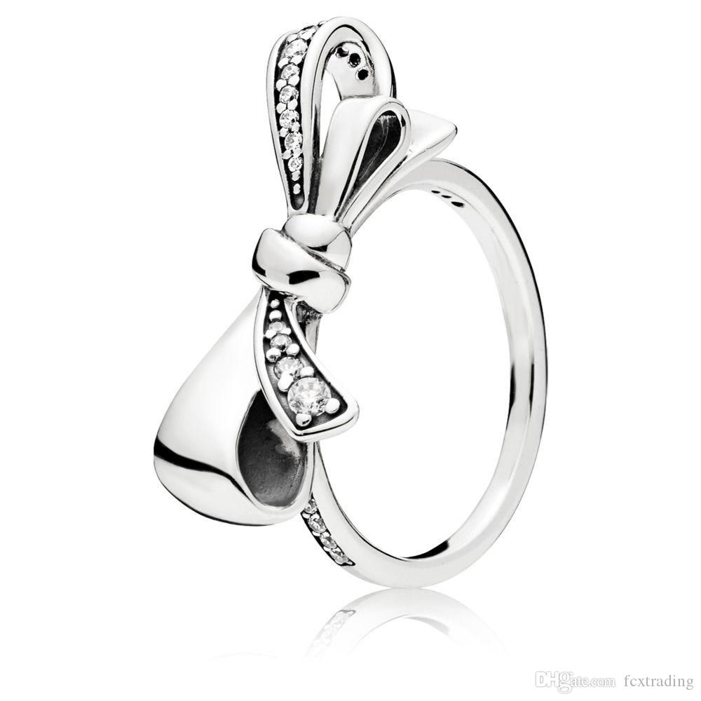 2018 New Pandora Style Ring Pure Silver With Logo Authentic 925