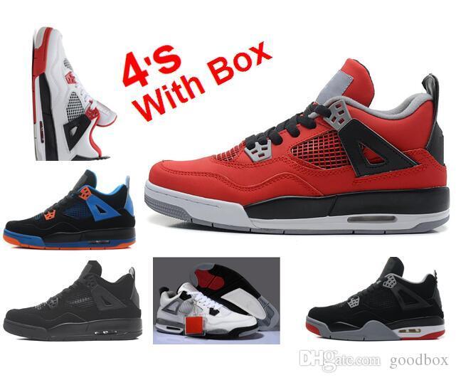 Wholesale Singles Day 4s Bred 4s TORO 4 BRAVO Black Tech Grey Oreo Men  Women Basketball Shoes With Box Sneakers Shoes Kids Mens Basketball Shoes  From ... a56db91f6