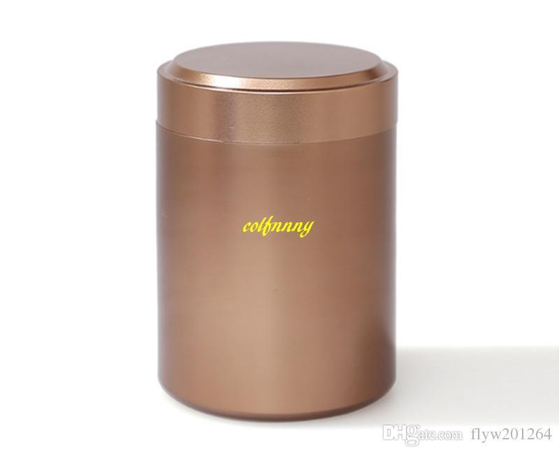 6.5x4.5cm Mini Teabox Titanium alloy Tea Caddies box For Travel Outdoor Sealed Jar Cans 8g tea Tin storage boxes