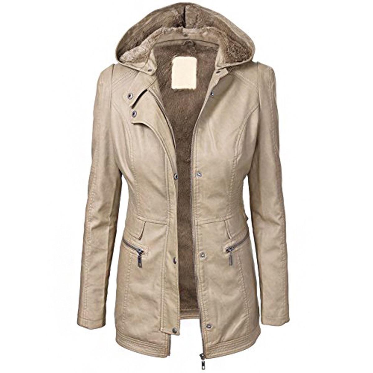 Vêtements Nouveau Dessus Femmes Solide Plus Slim Outwear Éclair Fermeture Automne 2019 Manteau Mode Veste Capuche Acheter Taille À Bouton Hiver Épais Chaude Owpq54R4f