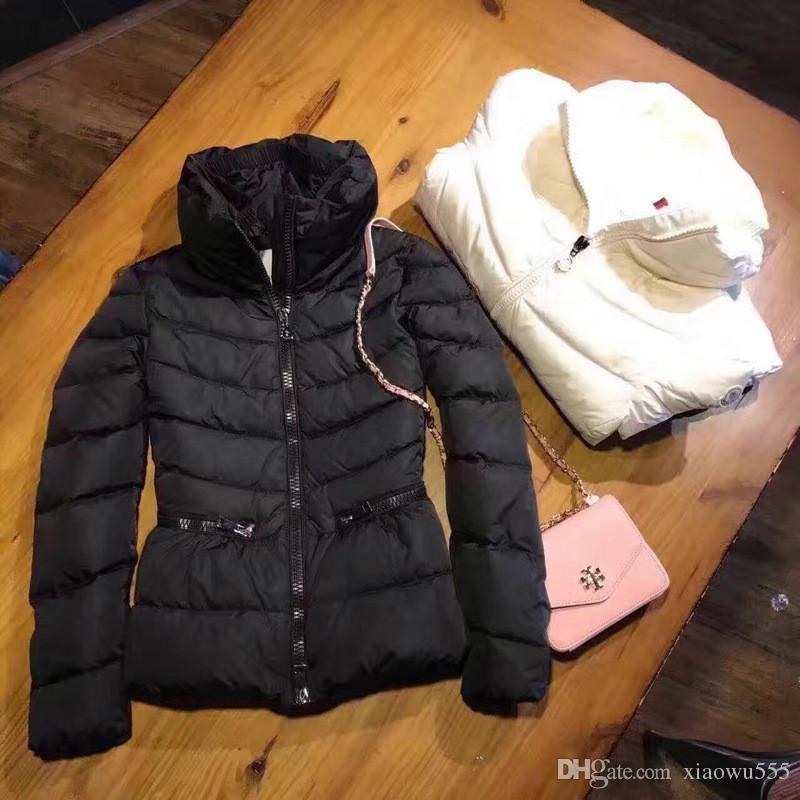 M Women White Duck Down Coat Super light soft Down Jacket Fashion Down Parkas White Black Color