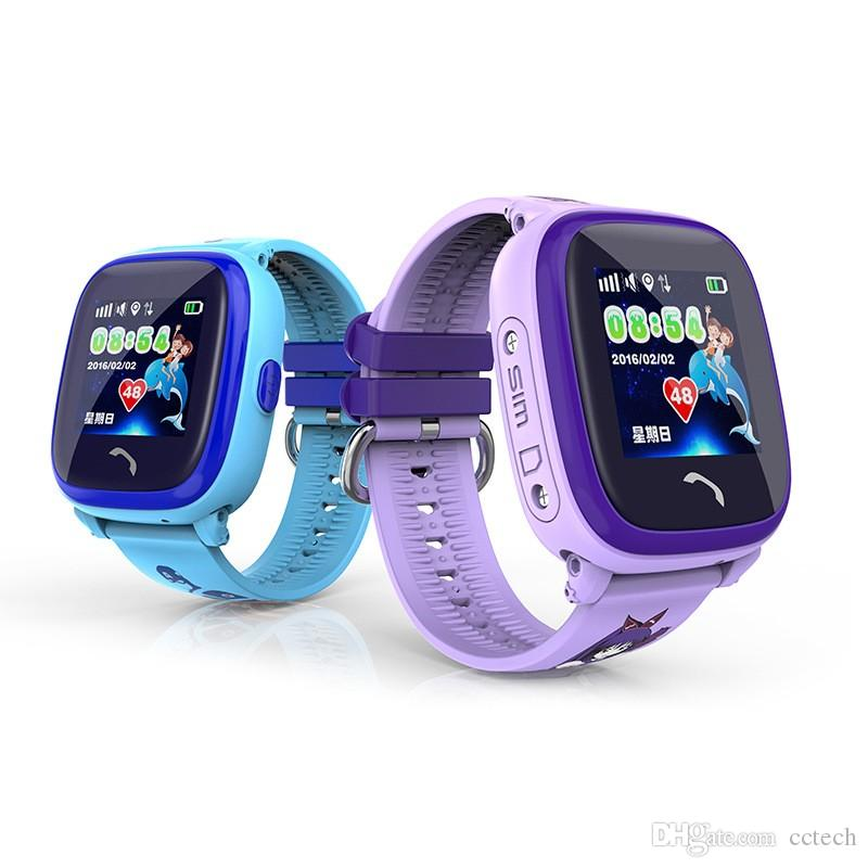 DF25 IP67 Waterproof Children GPS Swim phone smart watch baby watch SOS Call Location Device Tracker Kids Safe Anti-Lost Monitor