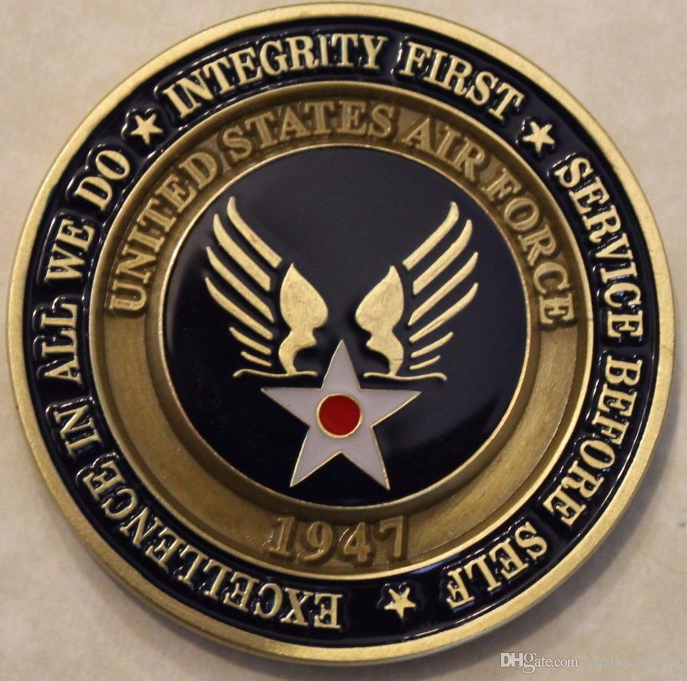 Free Shipping,CHALLENGE COIN UNITED STATES AIR FORCE 1947 AIM HIGH     FLY  FIGHT WIN