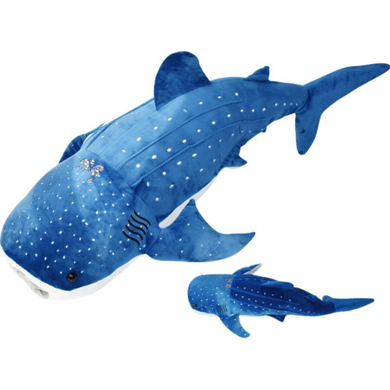50 120cm Blue Pink Gray Large Size Shark Plush Toys Big Fish Cloth