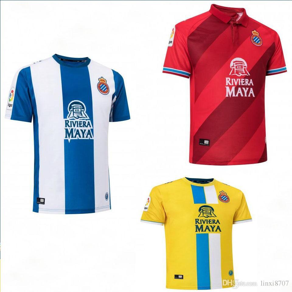 18 19 RCD Espanyol Soccer Jerseys Home LOPEZ HERMOSO IGIESIAS DARDER ... 3db2cdd56