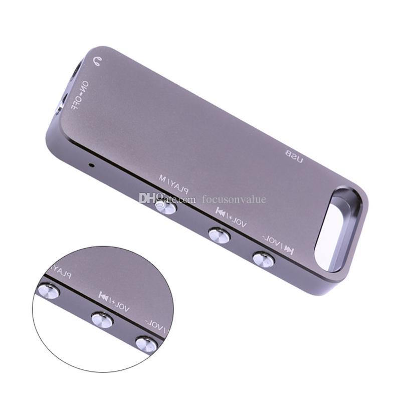 Super mini digital voice recorder 8GB Multifunctional USB Flash Drive Digital Audio voice recorder Mini Dictaphone pen with MP3 Player