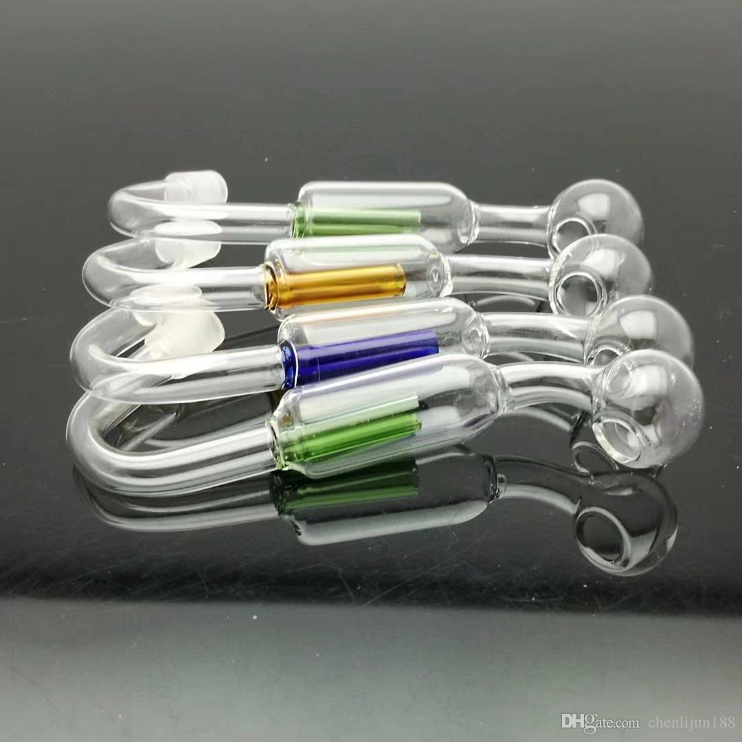 Double filtering pot Wholesale bongs Oil Burner Pipes Water Pipes Glass Pipe Oil Rigs Smoking,