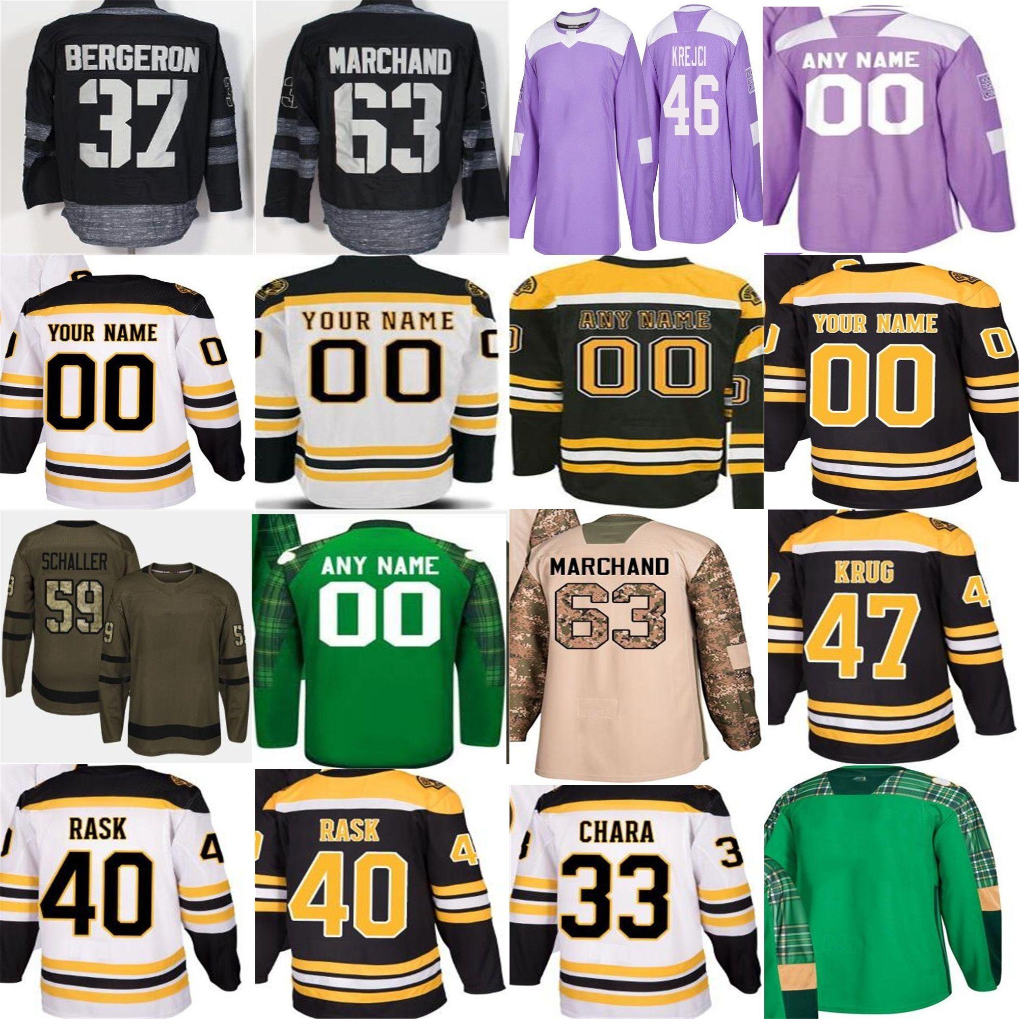 e5c005e6be2 2019 2018 New&Old Supplier Boston Bruins Custom Marchand Bobby Orr Tuukka  Rask White Camo Purple Green Home Salute 100th Patch Hockey Jerseys From  Probowl, ...