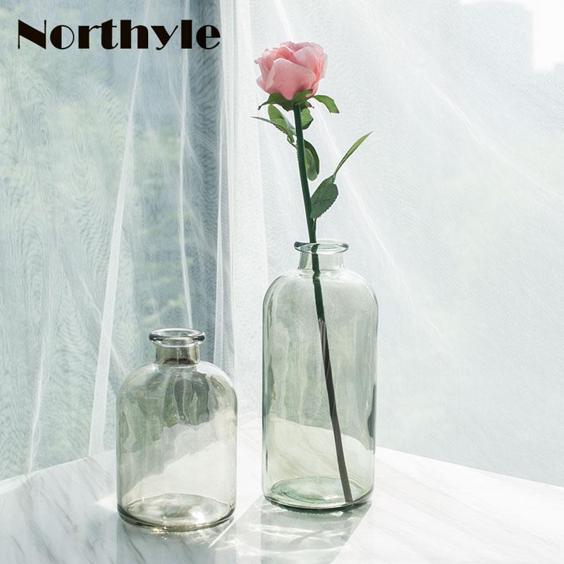 Flower Vase Modern Glass Floor Vase For Home Decoration Floral Glass