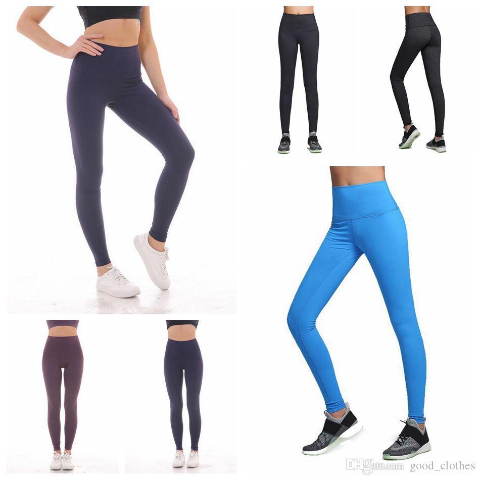 9b1f253512aeb1 2019 Women Hight Waist Fitness Exercise Leggings Stretch Pants Trouser  Solid Yoga Leggings Seamless Sport Workout Leggings LJJO4529 From  Good_clothes, ...