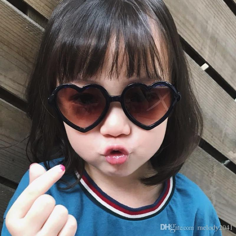ea583cff64a Kids Sunglasses Children Cute Heart Shape Sunglasses Love Heart Children  Sun Glasses UV400 Protection Mix Colors Wholesale Sunglasses Cool  Sunglasses From ...