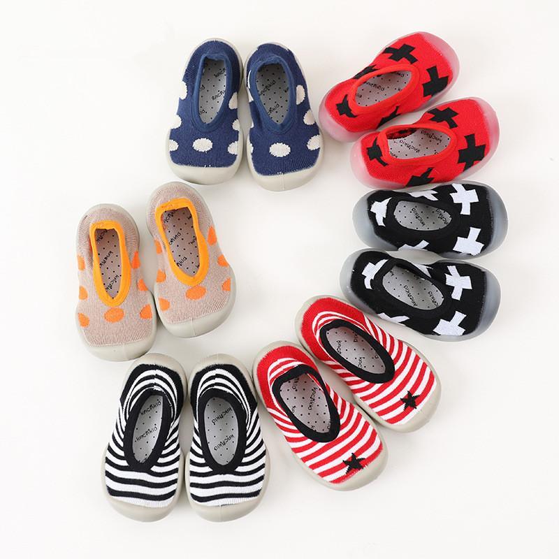Interior Bebés Piso Bebé Suave Calcetines Algodón Goma Infantil Primavera Punto Zapatos Otoño De Suela VMLpqGSUz