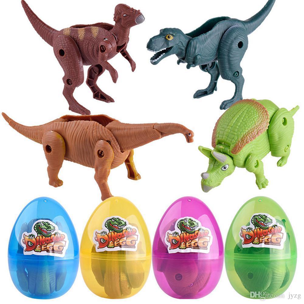 عيد الفصح مفاجأة البيض ديناصور لعبة نموذج الديناصورات المشوهة البيض مجموعة لعب للأطفال بيض الديناصور اللعب