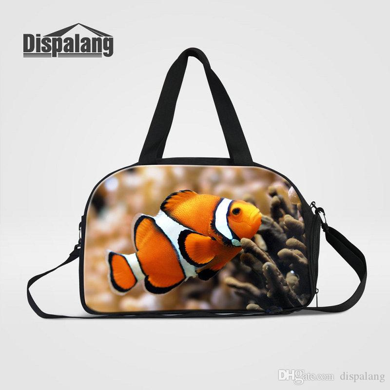 d79e9891def0 Canvas Travel Bags Carry On Luggage Duffle Bag For Teenage Girls Boys Cute  Amphiprion Nigripes Travel Shoulder Bags For Children Weekend Bag Wheeled  Duffle ...
