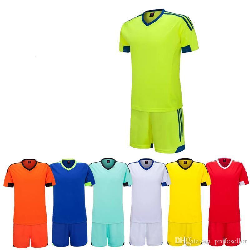 Football Jersey Set New Kids Soccer Training Suits Sports Sets ... 725fcea4b