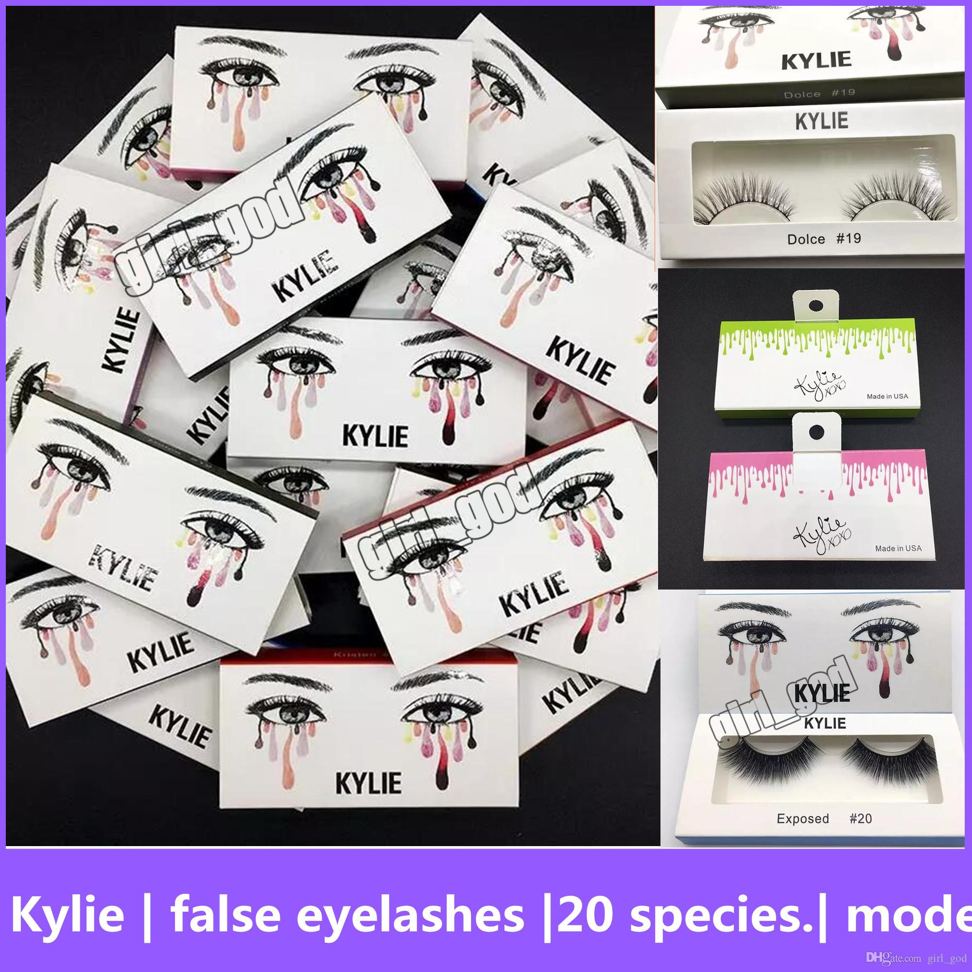 05146c2691d Kylie False Eyelashes 20 Model Eyelash Extensions Handmade Fake Lashes  Voluminous Fake Eyelashes For Eye Lashes Makeup False Eyelash Kylie False  Eyelash ...