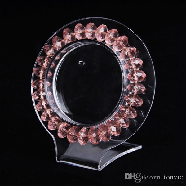 Tonvic Оптовая Clear View Acrylic браслет серьги кулон держатель Стенд ювелирных изделий дисплей стойки