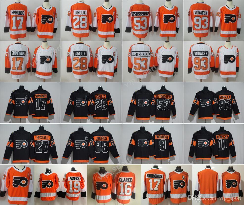Großhandel 2018 Flyers Trikots Philadelphia 17 Wayne Simmonds 28 ...