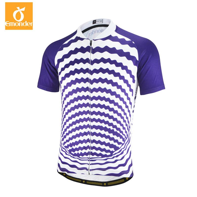 9b9bc6bd0 EMONDER Cycling Jersey Short-sleeved Purple Fit Cozy Quick Dry ...