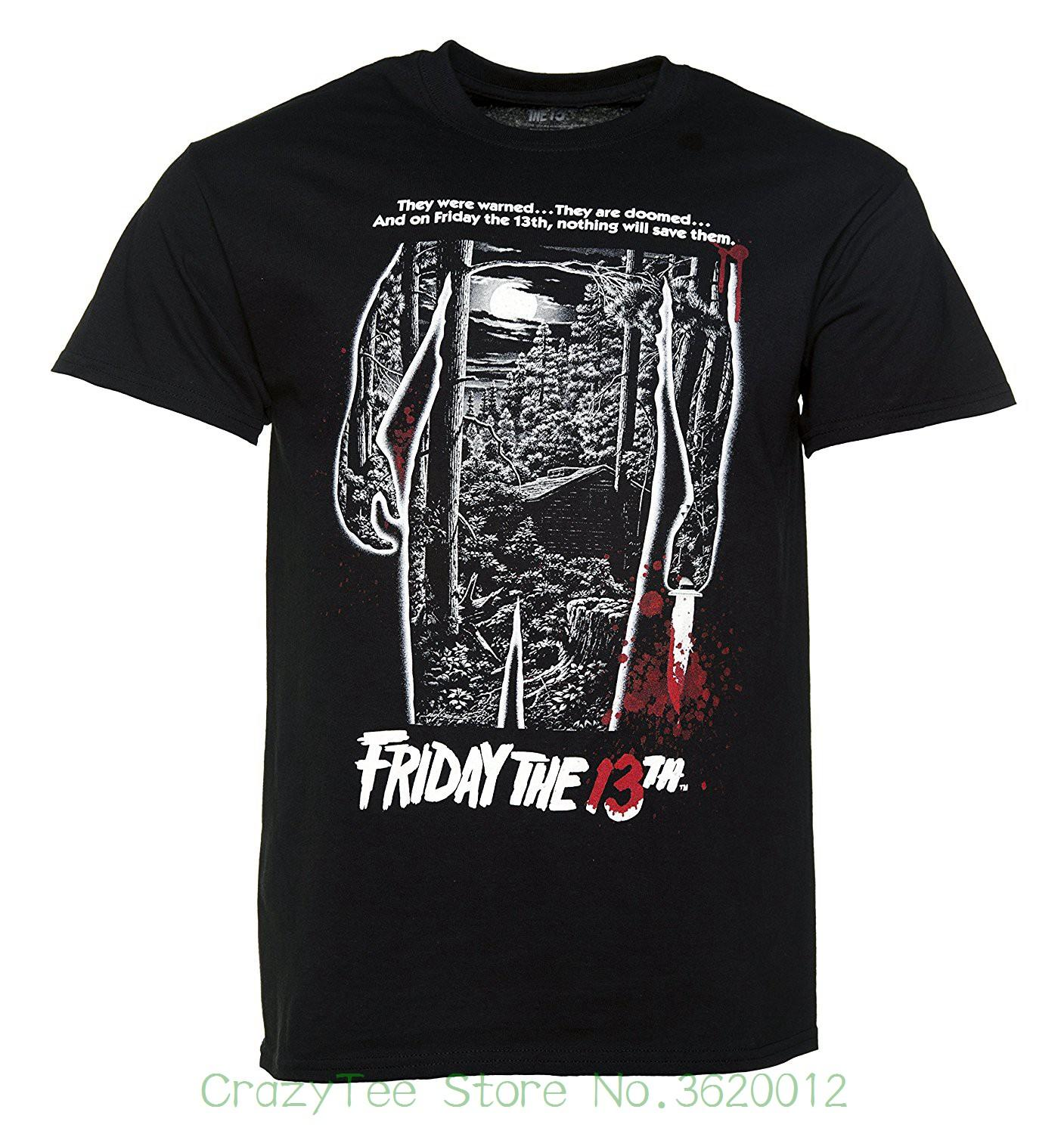 2018 Summer New Brand T Shirt Men Hip Hop Men T-shirt Casual Fitness Mens  Black Friday 13th Bloody Poster T Shirt Online with  17.71 Piece on ... ff1fb02e52