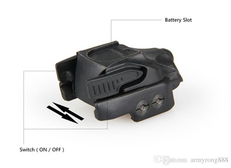 Nuovo mirino laser tracciante Crimson CMR-201 Rail Master Micro spia laser nero universale nero