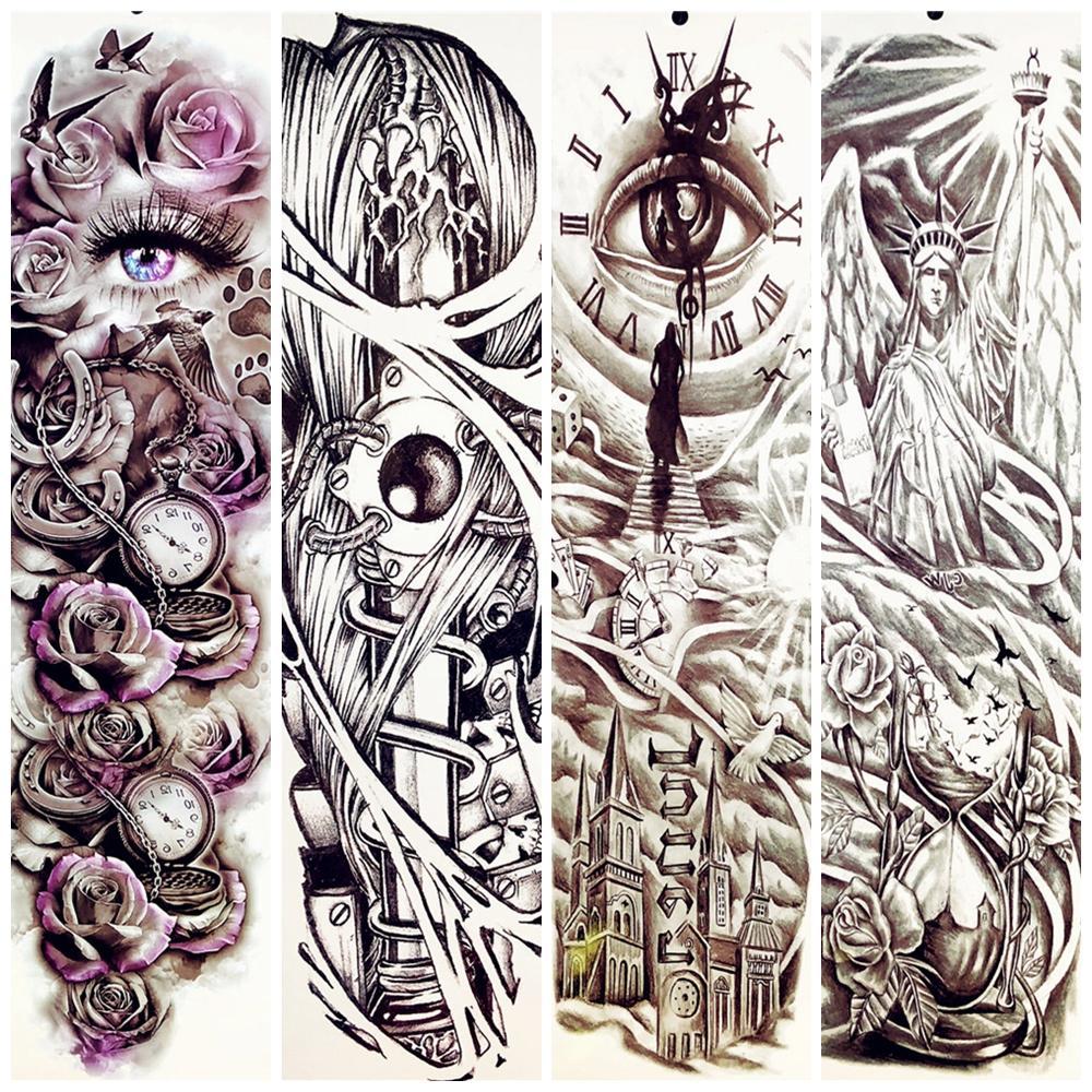 Großhandel 23 Muster Ganzkörperkunst Arm Tätowierung Aufkleber