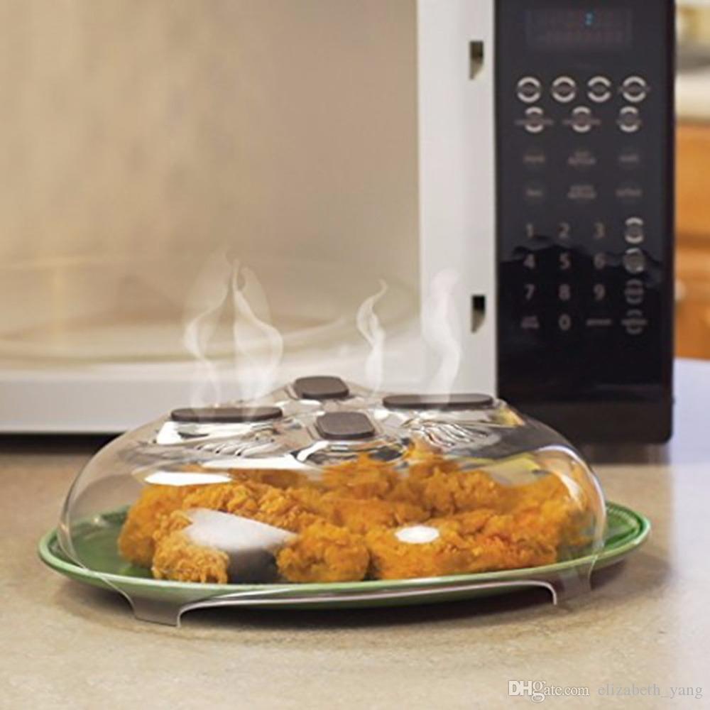 venta caliente Imán alimentos Salpicadura Guardia Microondas Hover Anti-Sputtering cubierta con Steam Vents Magnetic Splatter Lid