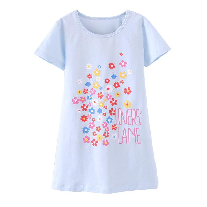 Girls Nightgowns Cotton Fabric Girls Sleepwear For 4 10 Years Baby ...