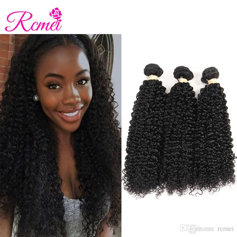 Rcmei Hot Selling Brazilian Kinky Curly Hair 100% Human Hair Weave Bundles  Natural Color Remy Hair Bundles Best Hair Weave For Black Women Best  Quality Hair ... d189b8be00