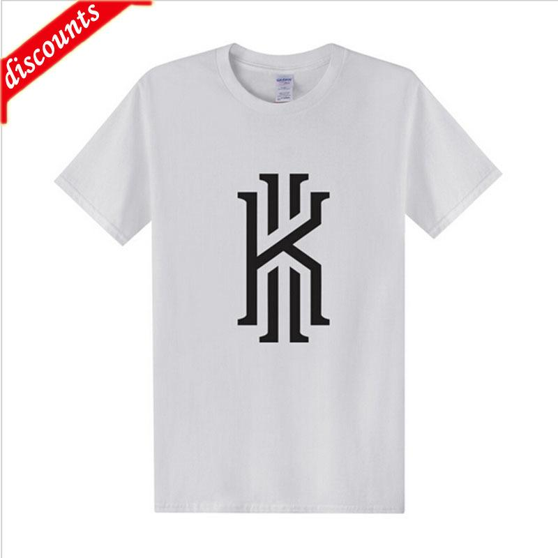 89dd4070b4ea Hot Sale Fashion New Kyrie Irving Logo T Shirt Men T Shirts 2018 Summer  Cotton Short Sleeve Kyrie Irving T Shirt Tops Tee Shopping T Shirt Online  Cool T ...