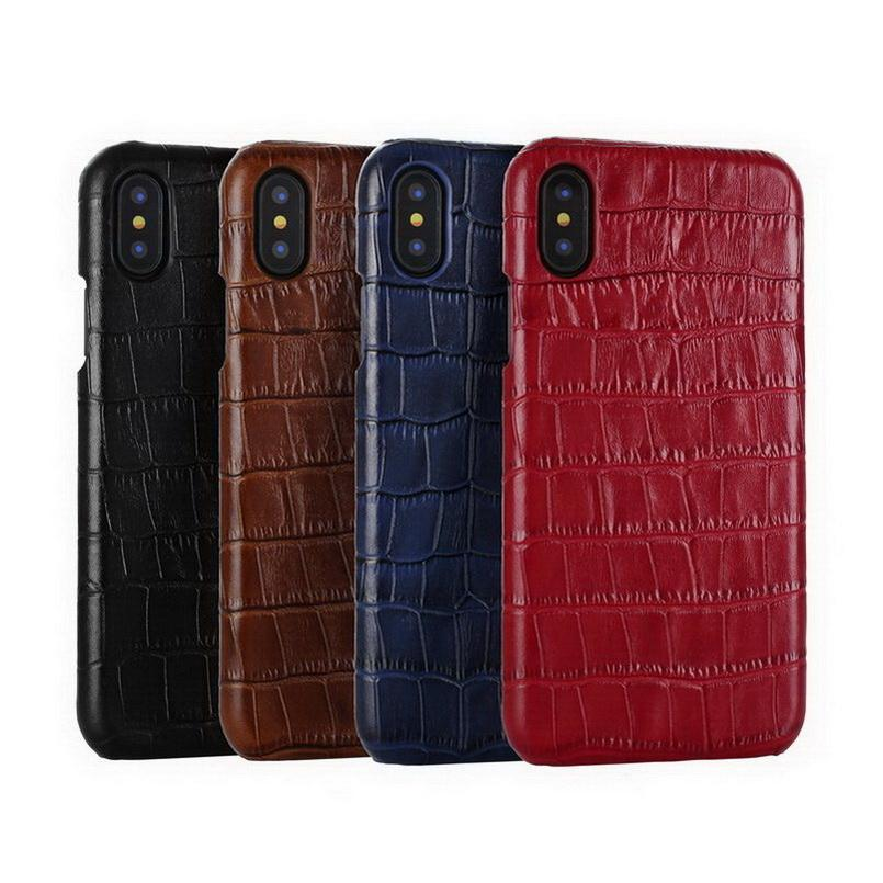 watch 8ec21 02e21 For iPhone X Case Crocodile Pattern Genuine Leather Cover for iPhone 6 6s  Plus 7 8 Plus X XR XS MAX Phone Cases Back Capas
