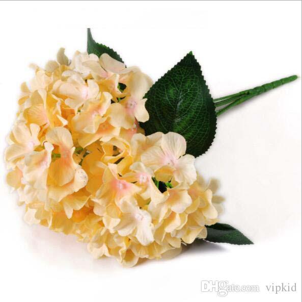 Simulation flower simulation plant 6 hydrangea flowers wedding bouquets Celebration ceremony decoration hall artificial flower flowers