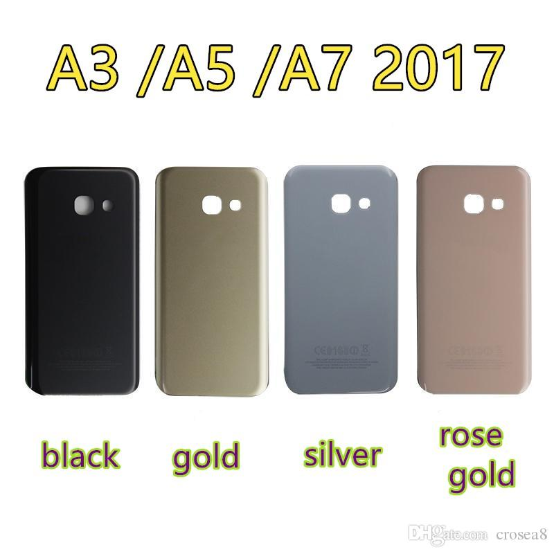 OEM Original Back Door Housing Rear Glass Battery Cover+Adhesive For Samsung Galaxy A3 A320 2017 A5 A520 A7 A720 Back Case Cover