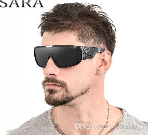 392abbae4b Compre SARA Marca Gafas De Sol De Moda Hombres Dragon Sport Goggle Hombres  Gafas De Sol Mujeres Diseñador A Prueba De Viento Escudo De Plástico Marco  UV400 ...