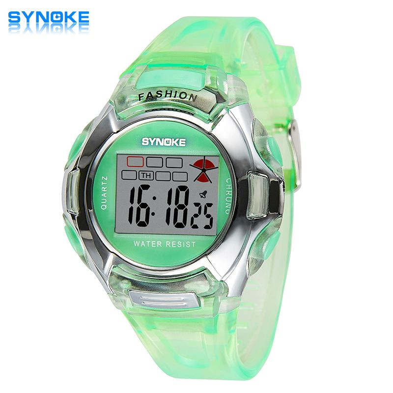 Synoke Branded Hot Sale New Children Watches Cool Kids Watches Black Square Children Digital Kid Watch Boys Watches Children's Watches