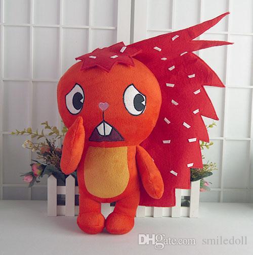 Feliz Árvore Amigos HTF Flaky 15 polegadas Anime Vermelho Recheado Boneca Dos Desenhos Animados de Pelúcia