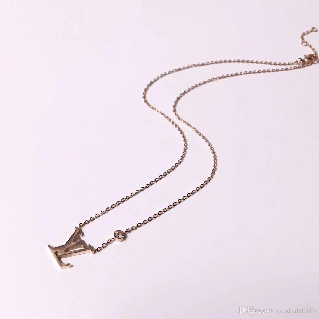 Новый бренд ювелирные изделия 316L титана стали 18K посеребренные ожерелье короткая цепь Серебряное ожерелье кулон для пары мода подарок
