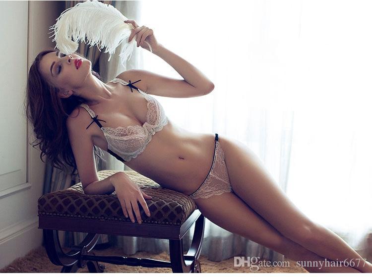 2018 damas de comercio exterior sujetador ultrafino caliente de Europa y América conjunto de encaje ropa interior atractiva atractiva del sujetador transparente WB02