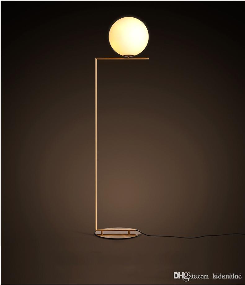 Ce Verre Led 265v Salon Ac85 Chevet Rohs Sur Lampadaires Nord Lampe Europe Pied Luminaire Du Globe En 3jARL54