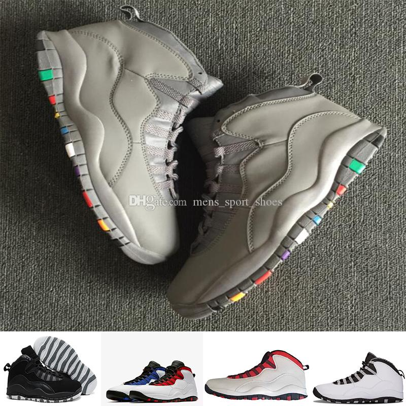 f951bbcd5e11 2019 10s Men Athletic Shoes 10 I M Back White Black Cool Grey Bobcats  Chicago Steel Grey Men Basketball Shoes Size 40 47 Drop Shipping From  Mens sport shoes ...