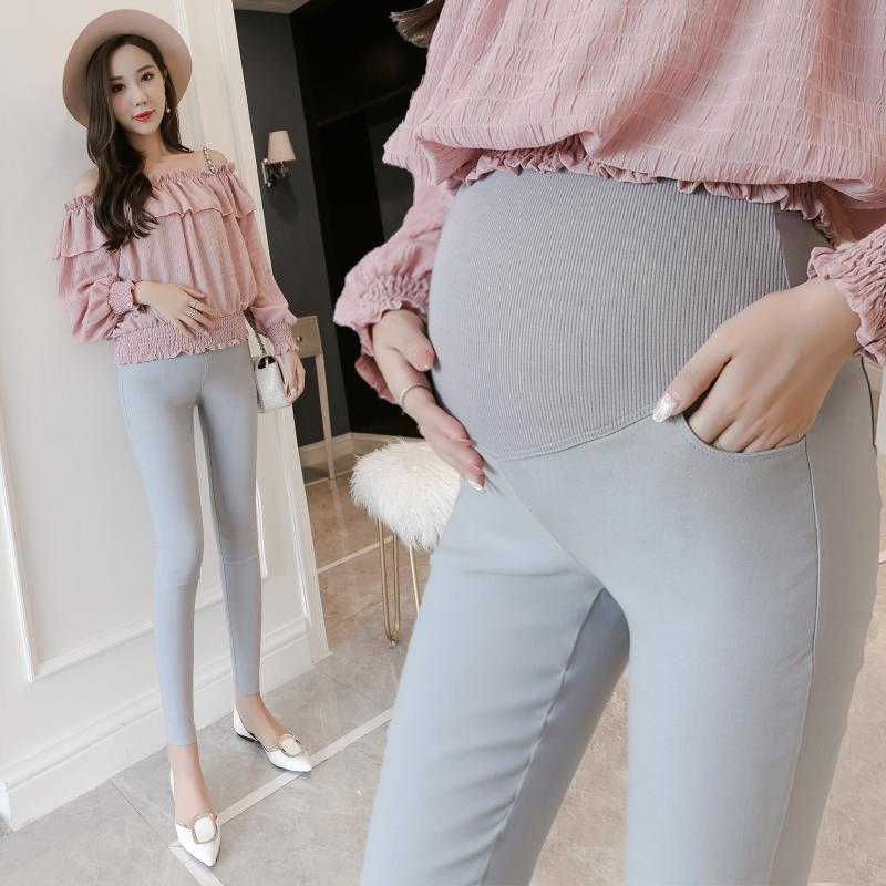 8662969c99e50 2019 Strech Cotton Skinny Maternity Legging Autumn Fashion Slim Pants  Clothes For Pregnant Women Belly Pregnancy Clothing From Mingway245, $9.85  | DHgate.