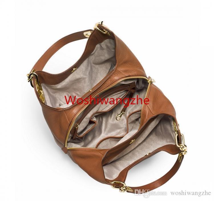 Livraison gratuite femmes sacs à main MICHAEL KEN luxe double fermetures à glissière femmes célèbre marque designer sacs PU sac à bandoulière en cuir chaîne 8936