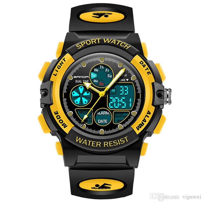 0dabbca0b Kids Sports Digital Watch, Fashion Boys Girls Outdoor Waterproof Watches  Children Analog Quartz Wristwatch Alarm Clock Calendar Stopwatch Watch Shop  Online ...